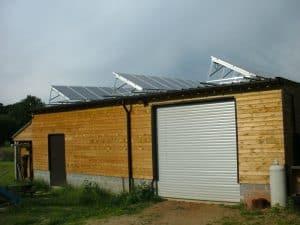 plat dak menten zonnig